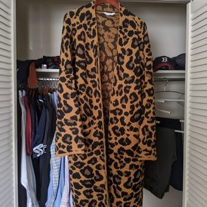 Longline Cheetah Cardigan